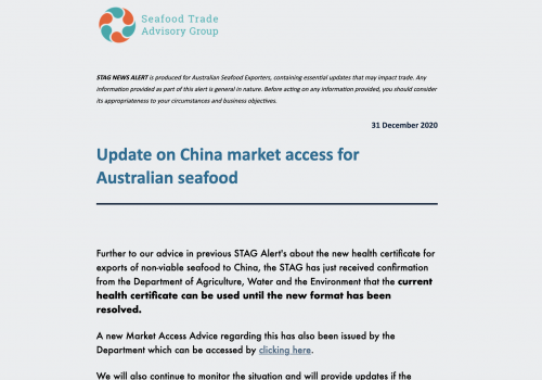 International Seafood Trade Alert